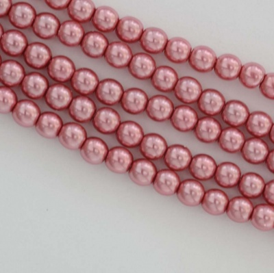Glass Pearl Round Pink 2 3 4 6 mm Fandango Pink 26276 Czech Beads