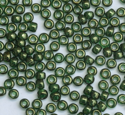 Miyuki Seed 0306 Green Size 15 11 8 6  Olive Gold Lustre Bead  10g