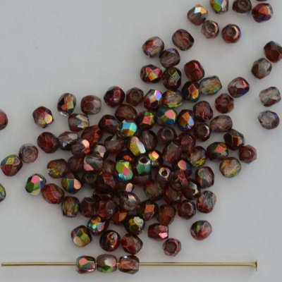 Fire Polished Red 3 4 6 8 mm Crystal Magic Wine 00030-95200 Czech Bead