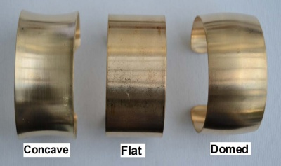 Beadable Brass Bangle Bracelet Blank  .75In 1In 1.5In 2In Domed Flat Concave