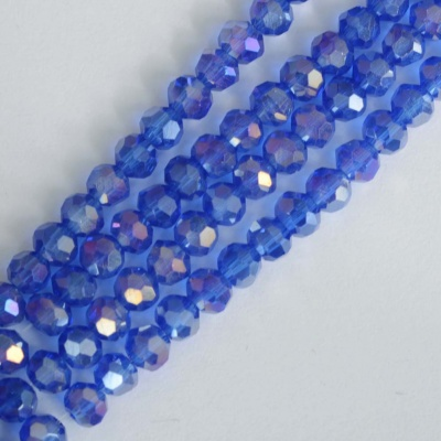 Crystal Faceted Round Blue  3mm cobalt AB Chinese  Bead x 200