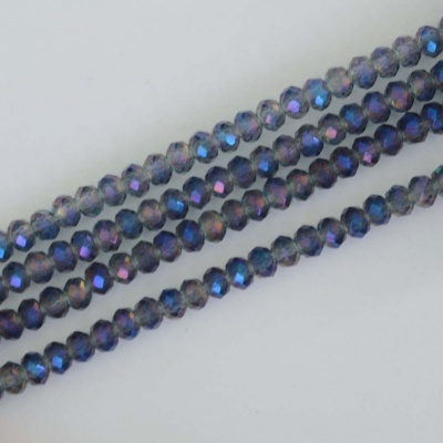 Crystal Faceted Round Blue  2 mm Crystal Electric Blue Chinese  Bead x 200