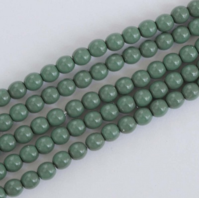 Druk Round Green 2 3 4 6 8 mm Fiesta Hartford Green 00030-48597 Czech Glass Bead
