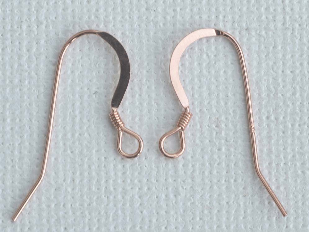 Vermeil Sterling Silver Rose Gold Plated Earring Hook Wires French ...
