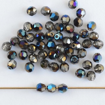 4200c9e37 Swarovski Hex Faceted 5000 Blue 3mm Crystal Metal Blue 001metbl ...