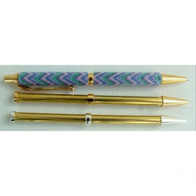 Beadable Pen Gold Or Chrome Plated - Instructions