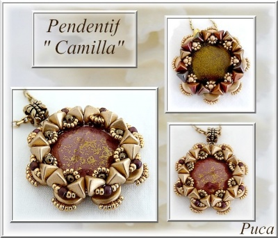 Pattern Puca Pendant Camilla uses Super Kheops Arcos Cabochon Foc with bead purchase