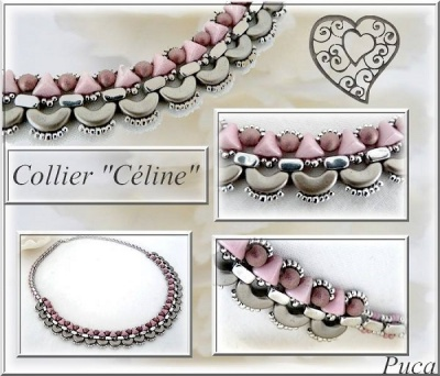Pattern Puca Necklace Celine uses Super-Kheops Ios Arcos Foc with bead purchase