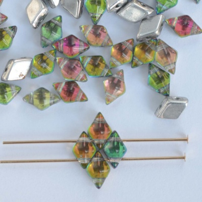 Diamonduo Green Crystal Prismatic Tropics 00030-28102gr Czech Glass Bead x 5g