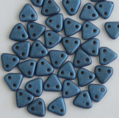 Triangle Blue Jet Metallic Suede Blue 23980-79031 Czech Beads x 10g