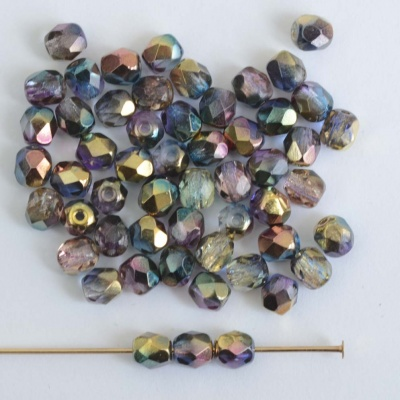Fire Polished Purple 3 4 6 8 mm Sunny Magic Crystal Blueberry 00030-98001 Bead