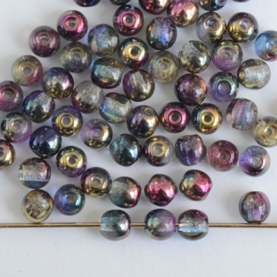 Druk Round Purple 3 4 6 8 mm Sunny Magic Crystal Blueberry 00030-98001 Cz Bead