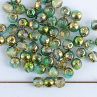 Druk Round Green 3 4 mm Sunny Magic Crystal Lime 00030-98003 Czech Glass Bead
