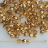 Fire Polished Gold  3 4 6 8 mm Met Ice Crystal Apricot 00030-67861 Czech Bead