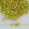 Fire Polished Green  3 4 mm Met Ice Crystal Citron 00030-67819 Czech Bead