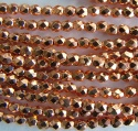 Fire Polished Copper 2 3 4 mm Copper Plated 00030-39000 Czech Glass Bead