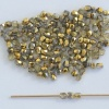 Fire Polished Gold 2 3 4 6 14 16 mm  Crystal Amber Half 00030-26441 Bead