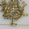 Fire Polished Gold  3 mm  Crystal Amber Full 00030-26440 Czech Bead