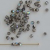 Fire Polished Grey 2 3 4 6 mm Crystal Graphite Rainbow 00030-98537 Bead