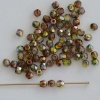 Fire Polished Green  3 4 mm Crystal Magic Green 00030-95400 Czech Bead
