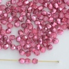 Fire Polished Pink 3 4 mm Met Ice Crystal Rose 00030-67282 Czech Bead