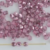 Fire Polished Pink 3 4 mm Met Ice Crystal Flamingo 00030-67744 Czech Bead