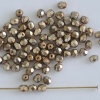 Fire Polished Gold 3 4 6 mm Jet HM Gold 23980-34425 Czech Bead