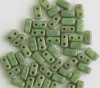 Brick Green Honeydew Moon Dust MD53200 Czech Mates Beads x 50