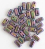 Brick Purple Jet Purple Iris 23980-21495 Czech Mates Beads x 50