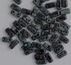 Brick Black Jet Picasso 23980-43480 Czech Mates Beads x 50