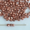 Fire Polished Gold 3 4 mm Met Ice Crystal Peach 00030-67887 Bead