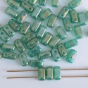 Brick Green Atlantis Green Lustre 52060-14400 CzechMates Beads x 50