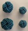 Fabric Chinese Knot Beads Buttons 2 Sizes Blue
