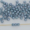 Fire Polished Blue 3 4 mm Chalk Baby Blue Shimmer 03000-14464  Czech Bead