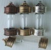 Beadable Glass Bottle Pendant Gold Silver Copper Nunn Design