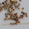 Fire Polished Orange 3 4 mm Crystal California Gold Rush 00030-98542 Czech Bead