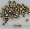 Fire Polished Green 3 4 mm Crystal California Green 00030-98549 Czech Bead