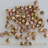 Fire Polished Pink 3 4 mm Crystal California Pink 00030-98544 Czech Glass Bead