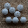 Dobble White Chalk White Shimmer 03000-14400 Czech Glass Beads x 20