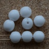 Dobble White Chalk White 03000 Czech Glass Beads x 20
