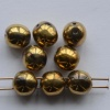 Dobble Gold Crystal Amber Full 00030-26440 Czech Glass Beads x 20
