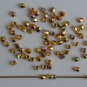 Fire Polished Gold 2 mm 24ct Gold Plated AB 00030-27000-28701 Czech Glass Bead