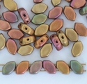 Paros Gold Crystal Matt Met Bronze B 00030-01620 Czech Glass Bead x 5g