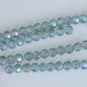 Crystal Faceted Round Blue  3mm  Crystal Tr Pale Blue AB Chinese  Bead x 100