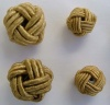 Fabric Chinese Knot Beads Buttons 2 Sizes Gold