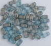 Brick Blue Halo Shadows  00030-29263 Czech Mates Beads x 50