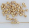 Fire Polished Brown 3 4 mm Chalk Ivory Shimmer 03000-65401 Czech Bead