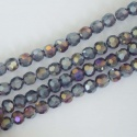 Crystal Faceted Round Purple  3mm Metallic Tanzannite AB Chinese  Bead x 100