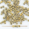 Minos Gold Crystal Amber ''Full'' 00030-26440 Czech Glass Bead x 5g