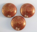 Cabochon Red Op Coral Red Bronze 18mm 25mm 93210-15496 Czech Glass x 1
